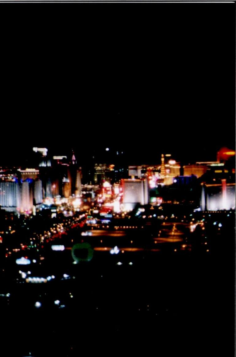 Vegas Strip as seen from helicopter - Las Vegas