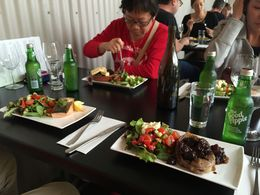 Wine tasting and a great lunch more food! at Bruny Island Premium Wine , cutiesealion - April 2016