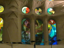 Areas of La Sagrada Familia interior are different as well as the outside , Alan C - January 2017