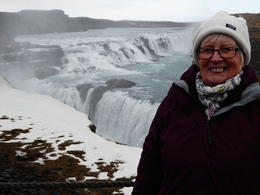 My wife at Gullfoss. , George H - February 2017