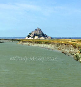 Approaching Mont St-Michel , Cindy M - September 2016