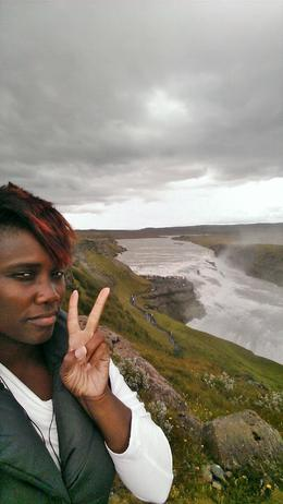 Hanging out at Gullfoss waterfall , Menya J - July 2014