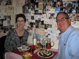 Wonderful dinner at les Feteas Galantes which is famous for it's bra/panty wall. - October 2009