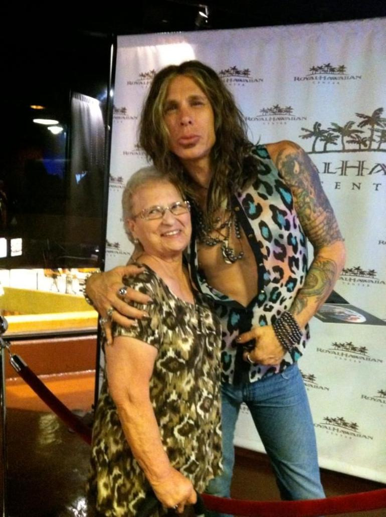 Mom with Steve Tyler (Imp) - Oahu