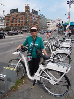 This is my friend Aileen selecting her bike for the tour. , norske2004 - July 2015