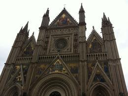 Parte superior da fachada do Il Duomo di Orvieto. , Eduardo Olindo B - November 2013