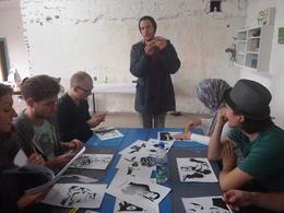 The start of our graffiti workshop!, Rachel - November 2013