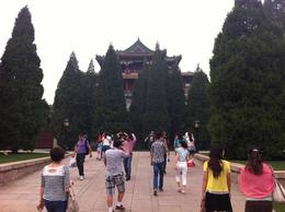 Walking up to the Summer Palace., Julie - June 2012