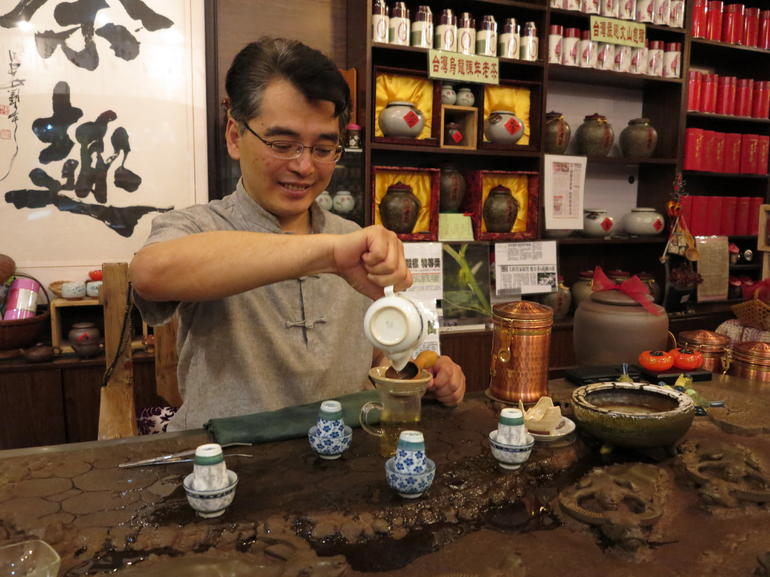 Tea Master making tea - Shanghai