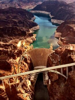 Hoover Dam from the helicopter. Amazing! , judeproc - August 2014