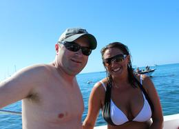 My main squeeze and me after a little snorkeling , Kimberly S - February 2017