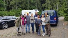 Marek with his tour group , Margaret L - June 2017