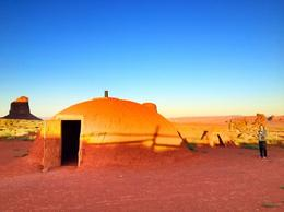 5 families still live in these hogans in Monument Valley, Rachel - October 2012
