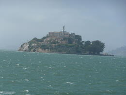 Alcatraz island from the ferry. , Beena S - August 2012