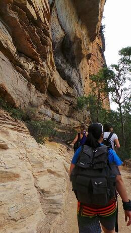 Part of the trail is by the cliff. , Suhaila M - January 2014
