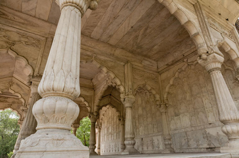 Detail of Red Fort - New Delhi