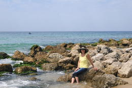 My wife on the Coast of Alexandria , John g K - May 2011