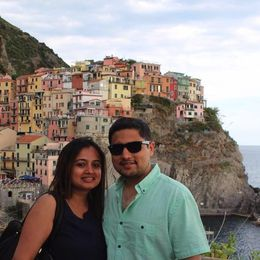 Did this tour with my husband - Pranava Haldipur. We were posing at the most photographed location in Cinque Terre. , Amruta U - December 2015