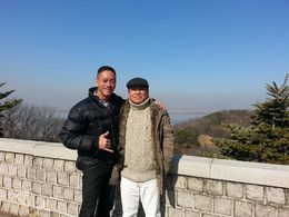 A picture of my tour guide and quot;code name and quot; and quot;Shrek and quot; and me at an overlook. , Alan - March 2015