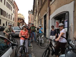 Getting ready to start the bike tour , Kathi M - June 2013