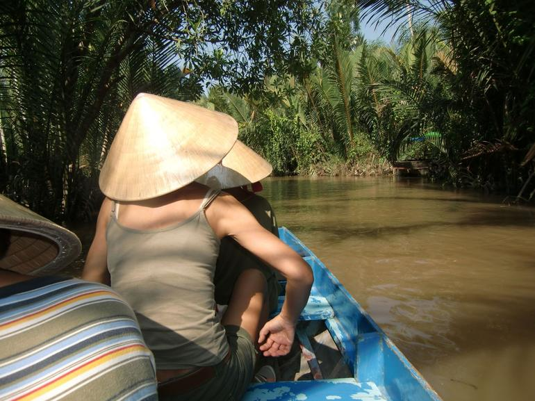 Rowing through the canals - Ho Chi Minh City