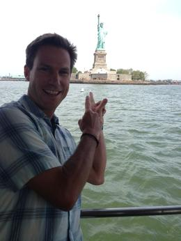 Ryan with the Statue of Liberty - June 2013