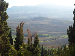 The countryside from the town of Pienza. , Forest A S - October 2012