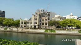 This is what remains of the building hit by the atomic bomb made from uranium dropped on Hiroshima last Aug 6, 1945 which ended WWII , Catherine C - May 2015