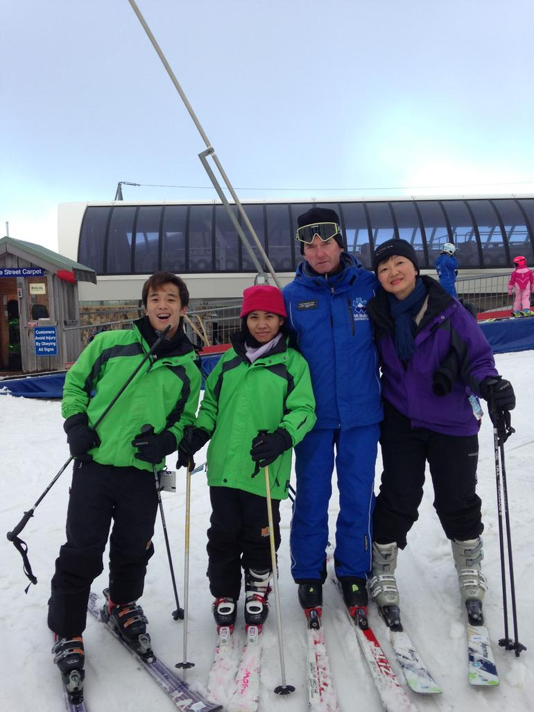 With our Ski Instructor, Hans. -