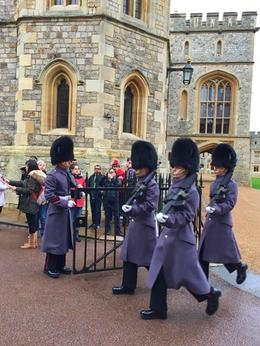 Guards moving from the private section of Windsor Castle to somewhere else. , Cynthia S - January 2017