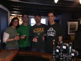 St. Patrick Day pints at The Turf Tavern in Oxford , Julie W - March 2017