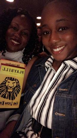 Me and my daughter at the Lion King on Broadway in NYC , Emelia J - August 2017