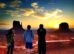Beautiful sunrise in Monument Valley, Rachel - October 2012