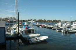 These private boats were anchored at the Gangplank Marina in Washington, DC, Sergio M - November 2009