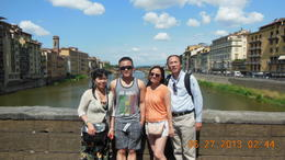 Our family picture on the bridge , Xueqin L - July 2013