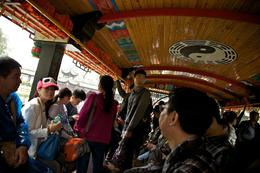 Inside Boat on Qingcheng Mountain , Deana J - November 2013