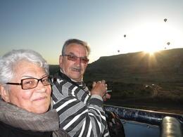 enjoying the sunrise flight, Patricia P - July 2014