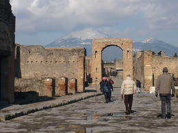 Pompeii overlooking Vesuvius , pamela j - March 2012