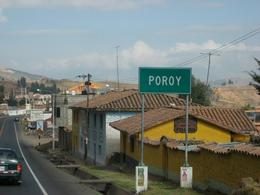 Arriving in the town of Poroy where you board the train to Aguas Calientes and Machu Picchu., Bandit - December 2010