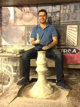 Pottery demonstration , James H - March 2015