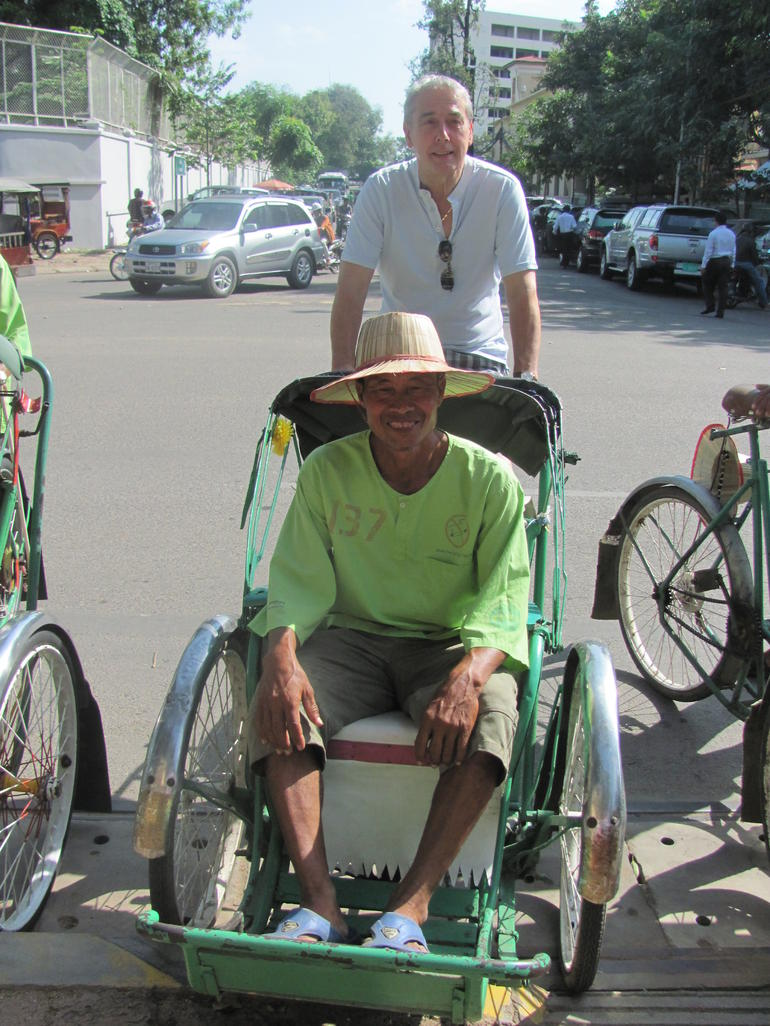 Rickshaw driver for the day -