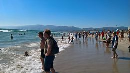 Santa Monica beach was very nice , Brian C - August 2016