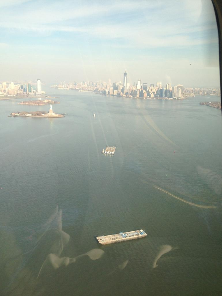 View from the helicopter - New York City
