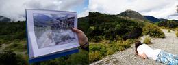 Recreating the scene where hobbits peak over the ledge and spot Oliphaunts , Hunter - December 2016