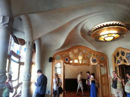 Inside the beautiful Casa Batllo! What an amazing building! , kristy m - October 2013