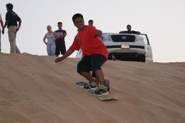 Desert sandboarding, Dubai - August 2011