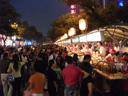 Wangfujing snack street. Choices choices, what to eat? - September 2012