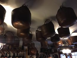 Copper kettles used to transport water , Charles D - May 2016