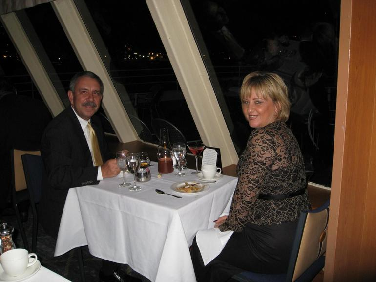 Larry and I on our New York Thanksgiving Evening Cruise - New York City