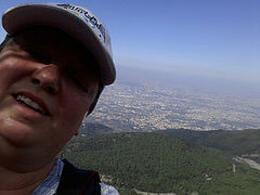 Bay of Naples from the top of Vesuvius :-) , Anne-Renee - December 2014